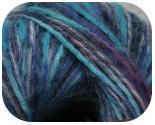 Пряжа ROBERTA, фактура - вискоза, шерсть, ленточная, сине-фиолетово-голубая
