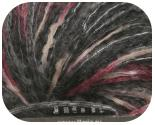 Пряжа ROBERTA, фактура - вискоза, шерсть, ленточная, черно-коричнево-бордовая
